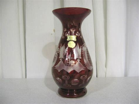 Bohemia Vase Price by Bohemia Made Vase Beautiful Ruby For