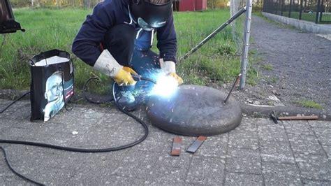 feuerschale selbst gebaut feuerschale schwenkgrill selber bauen teil1 ewm picomig