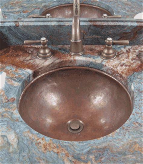 undermount copper bathroom sinks custom copper basins valley basin bowl