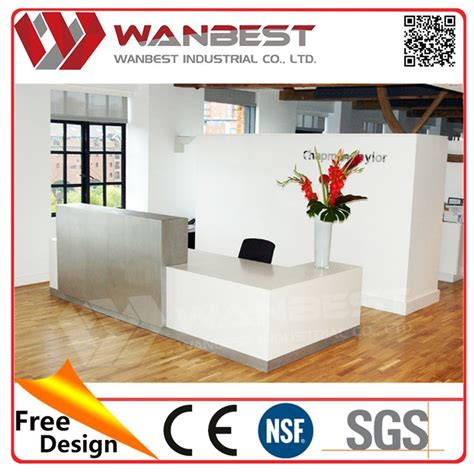 Solid Surface Company White Solid Surface Company Office Front Reception Desk