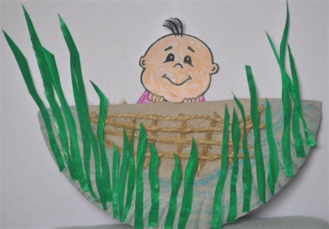 moses crafts for baby moses in a basket