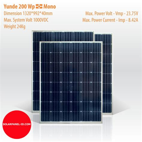 Solar Panel 200 Wp Mono Solar Cell 200 Wp Mono Panel Surya 200 Wp jual solar panel yunde 200 wp mono distributor panel surya solar panel pju solarpanel id