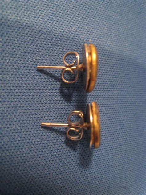 40 caliber earrings on stainless steel post