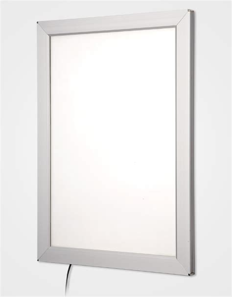 snap light box silver snap frame light box in light boxes for retail