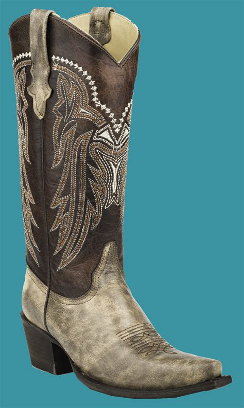 stetson s distreesed brown overlay v cowboy boots