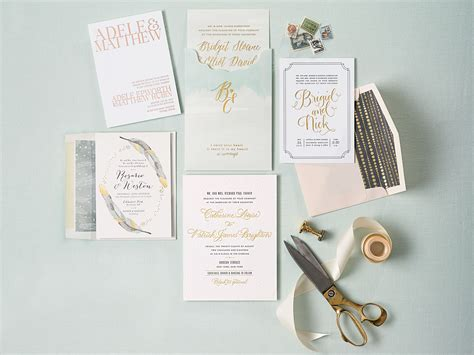 Unique Gifts Made From Wedding Invitation by Fabulous Gold Foil Wedding Invitations