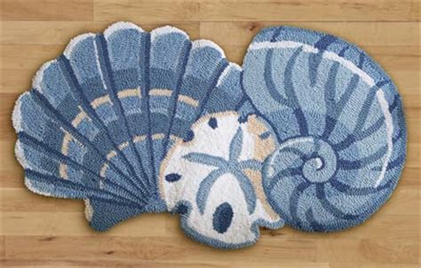 seashell bathroom rugs seashell decor accent rug from collections etc