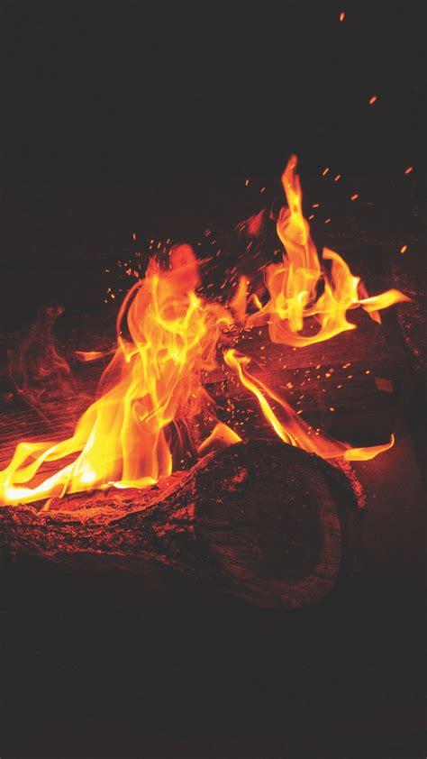 bonfire fire flames sparks wallpaper