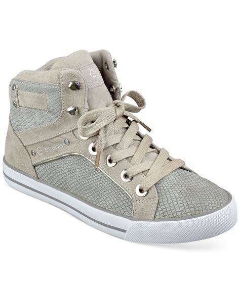 high top shoes for g by guess opall high top sneakers in gray lyst