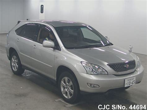 toyota harrier 2005 2005 toyota harrier silver for sale stock no 44694
