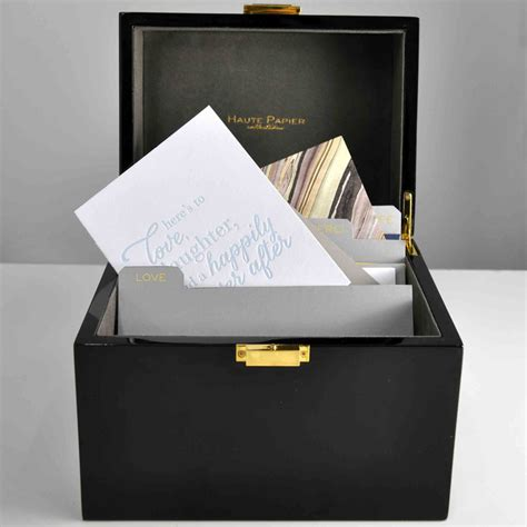 Birthday Card Organizer A Must Have The Write Box A Lacquer Stationery Organizer