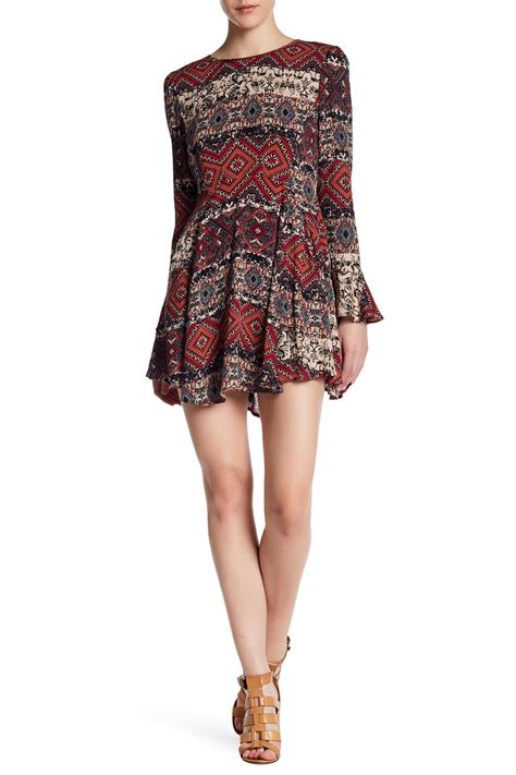 Colorful Pattern Smlxl Dress 24997 anama patterned ruffle dress nordstrom rack