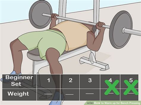 how to warm up for bench press how to warm up for bench pressing with pictures wikihow