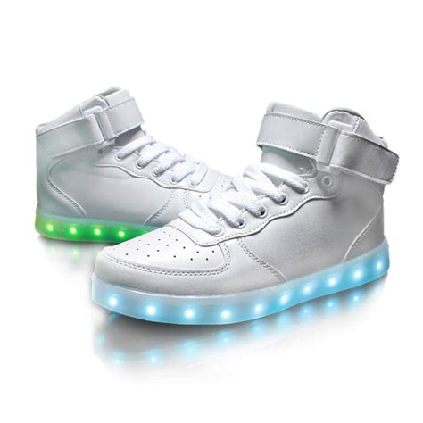led shoes for led shoes mens white high top remote
