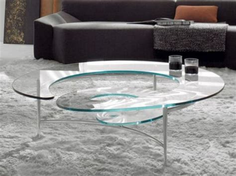 glass coffee tables amusing spiral glass coffee table