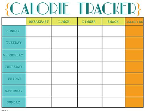 printable food journal calorie counter printable calorie tracker chart free printable calorie