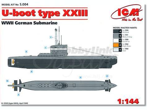 german u boat type xxiii 1 144 u boat type xxiii wwii german submarine by icm