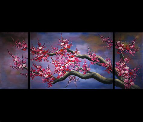 wall paintings wall art ideas design sakura japanese wall art canvas