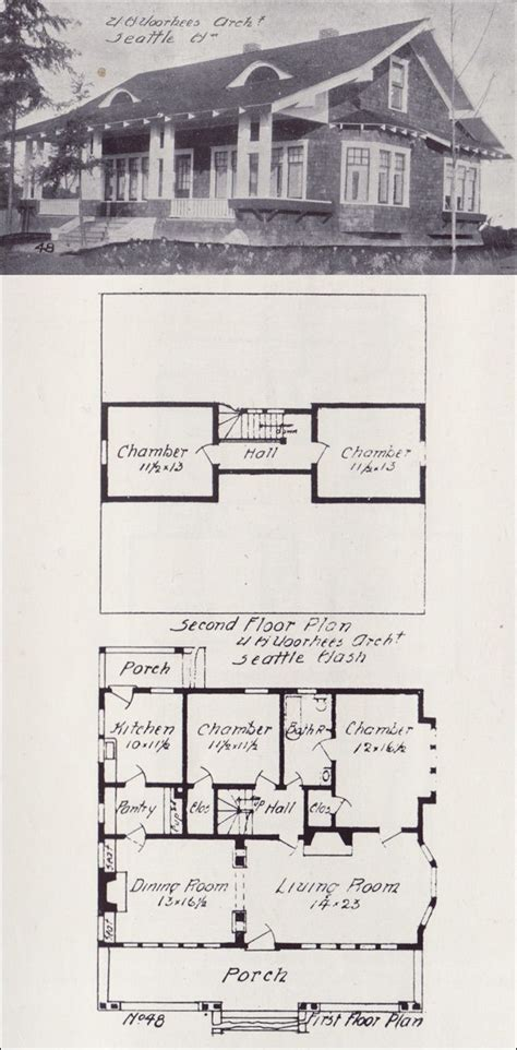 western homes floor plans 1908 western home builder house plans architecture