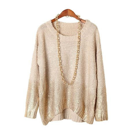 vintage knitted sweater tunic top pullovers tricot