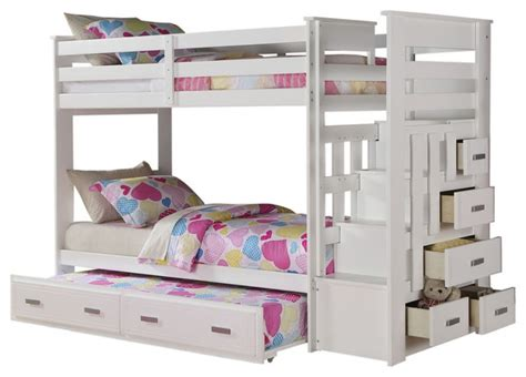White Bunk Bed With Storage White Sleeper Bunk Bed With Storage Drawers Sleeper Bunk Beds For Room Image