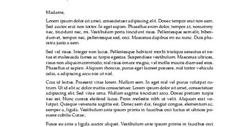 Sponsor Letter En Francais sle cover letter modele de lettre en francais