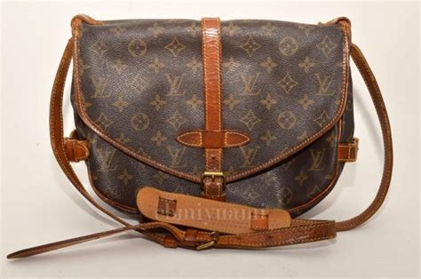 authentic louis vuitton monogram saumur  messenger cross