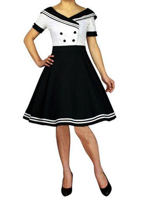 swing dress costume rk81 rockabilly sailor retro nautical costume dress pin up