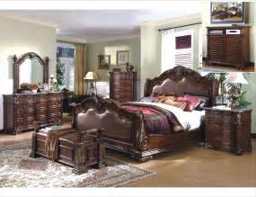 Mcferran royale sleigh bedroom set marble top mcfb8001s