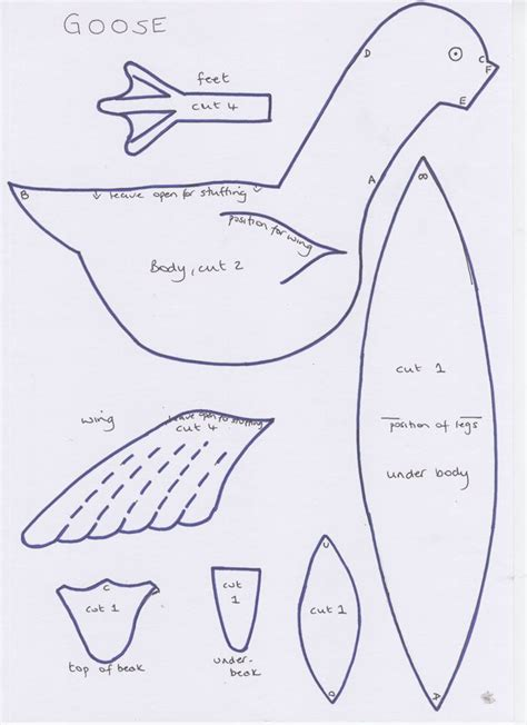 How To Make Paper Goose - 206 best images about birds patterns templates on