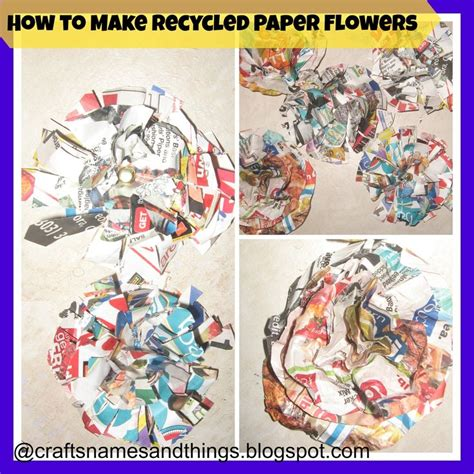 How To Make Recycled Paper Flowers - 74 best images about diy paper flowers on