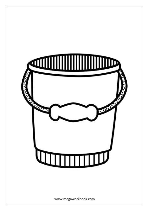 bucket worksheet coloring pages