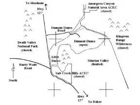 california sand dunes map dumont dunes sand dune guide