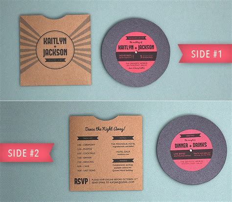 Totally Free Totally Rockin Diy Vinyl Record Wedding Invitation From Download Print Free Vinyl Record Template