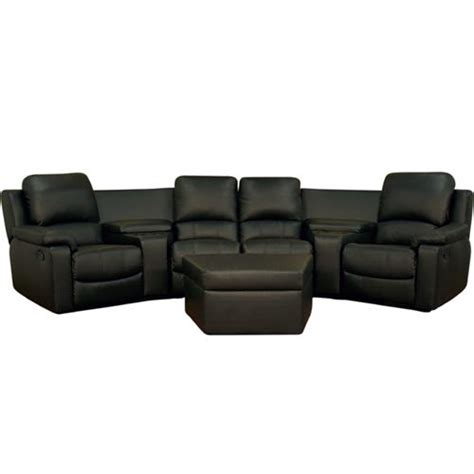 home theatre sectionals wholesale interiors four seat curved leather home theater