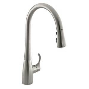 kohler k 596 simplice single handle pullout spray kitchen faucet homeclick