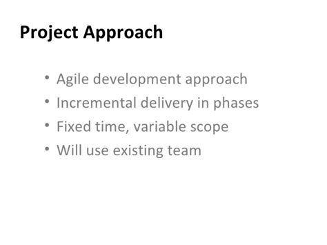 Project Initiation Presentation Template Project Approach Template