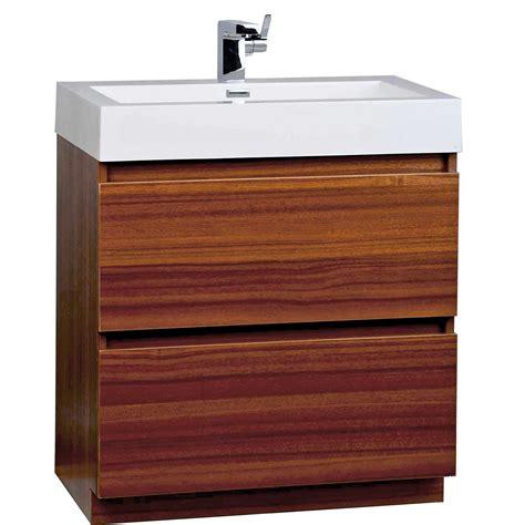 29 bathroom vanity 29 5 inch contemporary bathroom vanity set in teak optional mirror tn ly750 tk