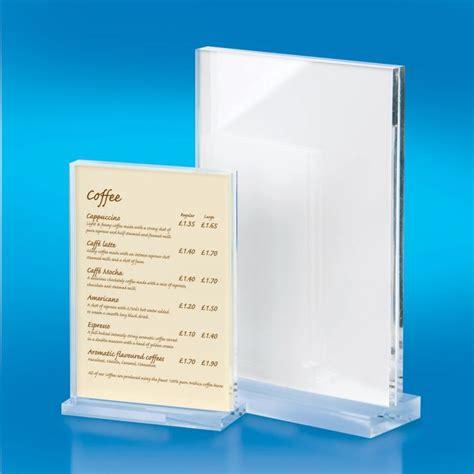 Acrylic Menu chunky 10mm acrylic menu holder menu holders acrylic menu holders