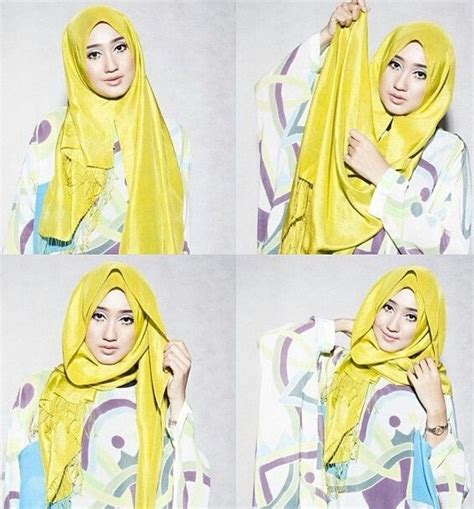 cara memakai hijab yg gang simple cara memakai hijab pashmina simple untuk pesta bundaku net