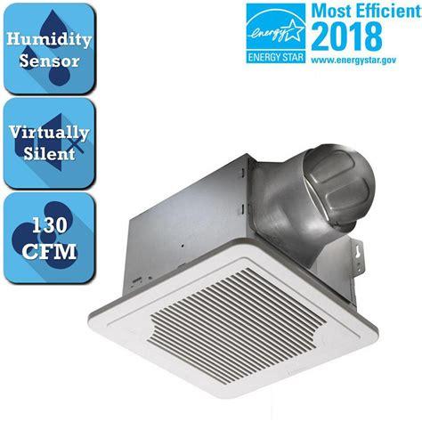humidity controlled exhaust fan delta breez smart series 130 cfm ceiling bath exhaust fan