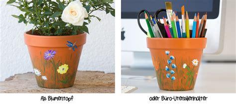 Blumentopf Bemalen Anleitung by Terracotta Blumentopf Bemalen Bauernmalfarbe Ch