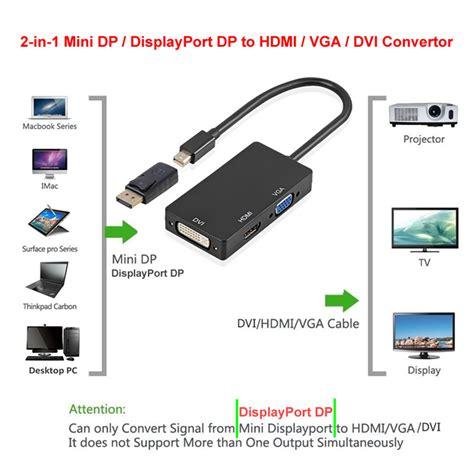 Nyk Mini Displayport To Vga Display Cable Con Dpnmvgf cwxuan mini displayport displayport to hdmi vga dvi adapter black rc toys hobbies
