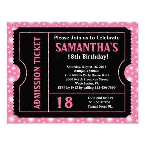 18th birthday invitations templates free 17 best images about 18th birthday invitations and