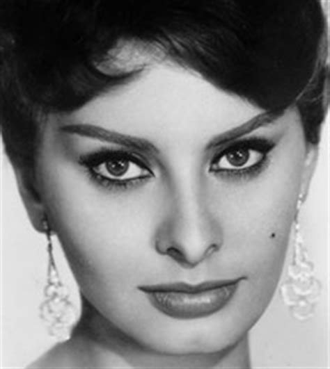 Hairstyle For Big Nose And Weak Chin | sophia loren