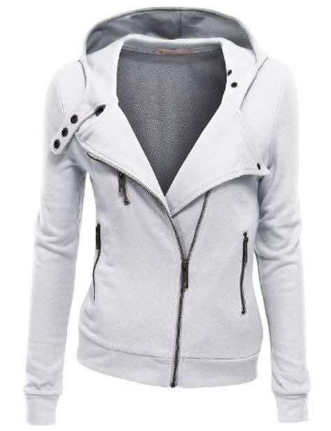 Jaket Ziper Grown doublju womens zip up jacket in stretch cotton fashion grow