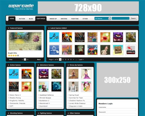 theme wordpress arcade awesome themes for gaming and arcade sites wp mayor