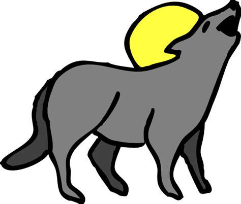 coyote clipart howling coyote clip at clker vector clip