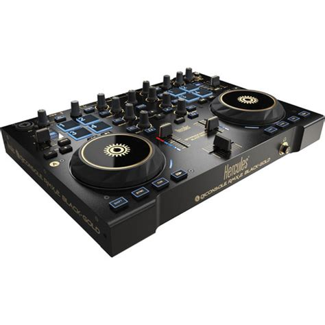 best dj console hercules dj console rmx 2 controller black gold 4769259