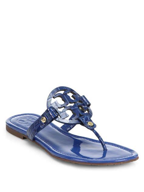 burch miller patent sandal burch miller crocodileembossed patent leather sandals